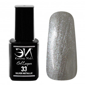 EN Gel Lacquer Nº 33 - Silver Metallic - 12ml