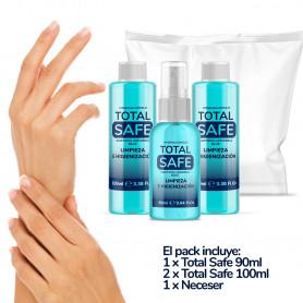 Pack Total Safe Hidroalcoholico Blue (290ml) + Neceser